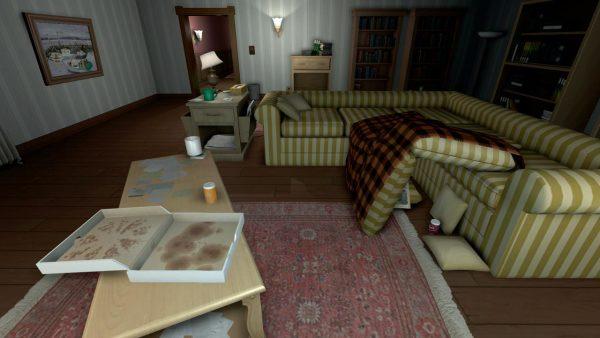 The ransacked living room