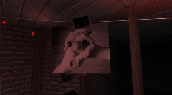 In the attic darkroom