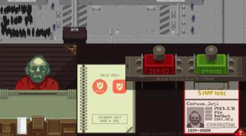 Screen Shot of papers please