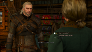 Geralt in conversation