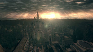 A labyrinthine city from the Dark Souls universe