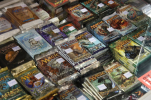a pile of magic: the gathering booster packs