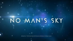 The opening screen for No Man's Sky