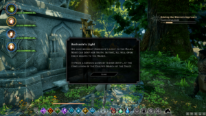 A screenshot depicting a piece of lore from Dragon Age: Inquisition