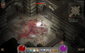 A screenshot of the final boss fight during The Darkening of Tristram