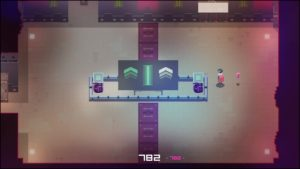 A screenshot from the video game hyper light drifter with the number 782 along the bottom