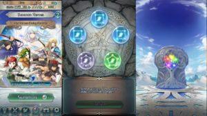 A screenshot of the hero summoning mechanic in Fire Emblem Heroes