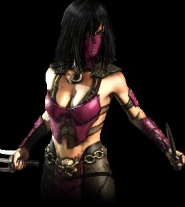 A screenshot from Mortal Kombat depicting Mileena