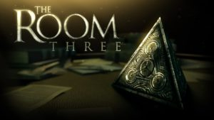 A screenshot of the splash screen for The Room Three.