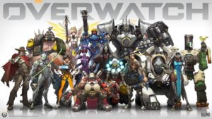 An image depicting some of the Overwatch hero roster