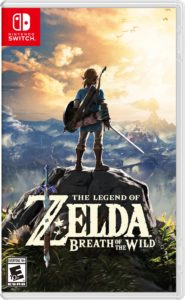 A photo of the box art for The Legend of Zelda: Breath of the Wild