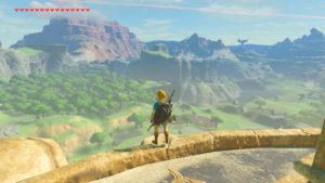 A screenshot from The Legend of Zelda: Breath of the Wild depicting the game world's scope.