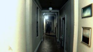 In P.T., the player turns a corner, only to be confronted by a silhouetted character down the hallway.