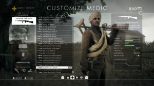 The medic class in Battlefield.
