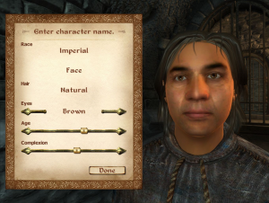 The default person of the Elder Scrolls universe, both metaphorically and quite literally. Image retrieved from UESP: Oblivion Character Creation.