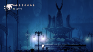 Figure 1: The tiny Vessel at the memorial to the Hollow Knight