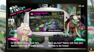 PEARL: For all the cardboard boxes here, there's a weird lack of people working… MARINA: Didn't you hear? Robots took their jobs! Welcome to the future!