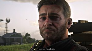 Arthur admitting that he is afraid of dying. Credit: Rockstar Studios.