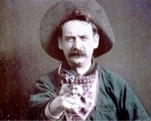 One of the villainous outlaws from The Great Train Robbery. Note his black hat.