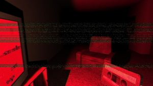 Through the static and distance, screen mediation affirms a separation between the player and this virtual space.